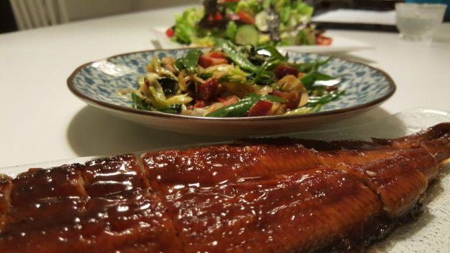 Eel salad